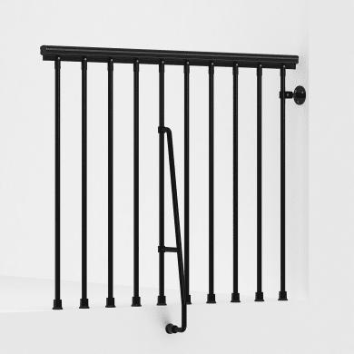 Balaustra FONTANOT in acciaio nero L 120 x H 0 cm