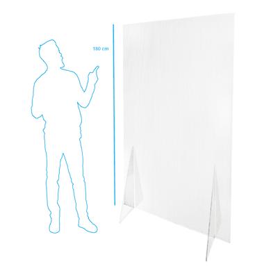 Schermo di protezione policarbonato alveolare trasparente 105 cm x 180 cm, Sp 6 mm