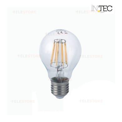 Lampadina LED filamento, E27, Goccia, Trasparente, Luce fredda, 8W=1055LM (equiv 81 W), 300°