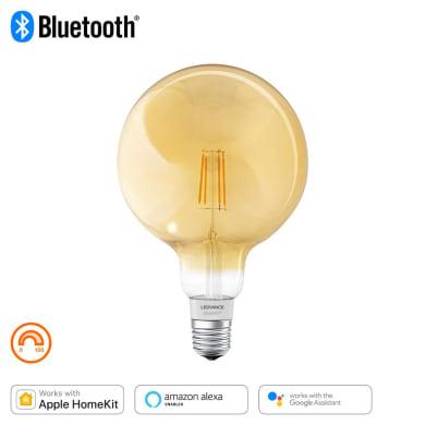Lampadina smart lighting LED filamento, E27, Globo, Ambra, Luce calda, 60W=600LM (equiv 45 W), 320° , LEDVANCE
