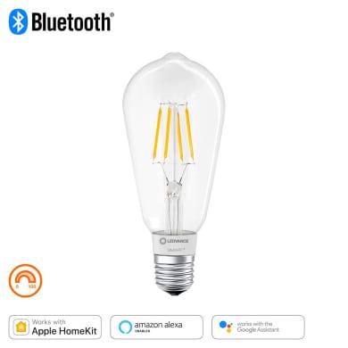 Lampadina collegato LED filamento, E27, Goccia, Trasparente, Luce calda, 60W=650LM (equiv 50 W), 320° , LEDVANCE