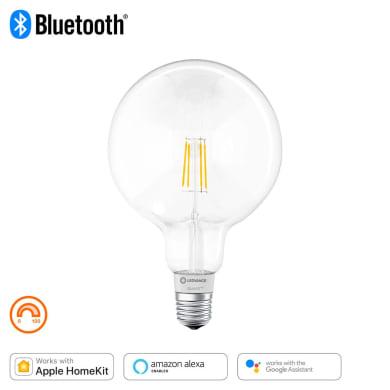 Lampadina collegato LED filamento, E27, Globo, Trasparente, Luce calda, 60W=650LM (equiv 50 W), 320° , LEDVANCE