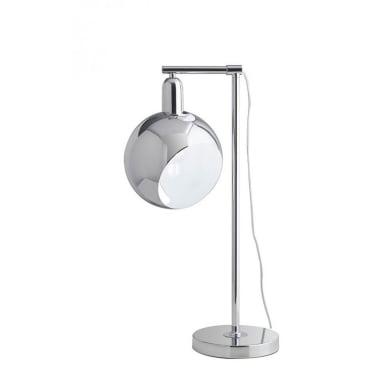 Lampada da scrivania Narciso cromo, in vetro, E27