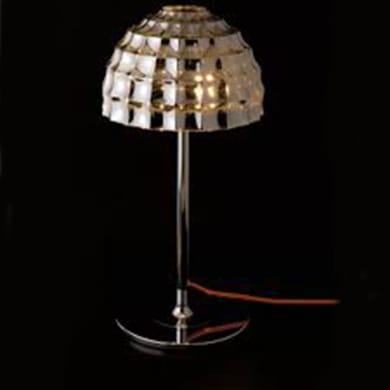 Lampada da scrivania Callas cromo, in vetro, E27 2x