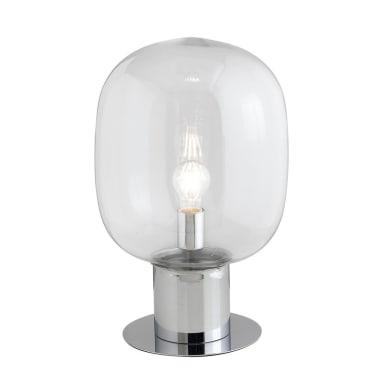 Lampada da scrivania Fellini cromo, in vetro, E27