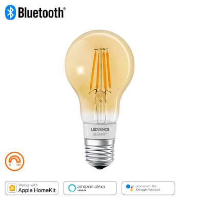Lampadina collegato LED filamento, E27, Goccia, Ambra, Luce calda, 60W=600LM (equiv 45 W), 320° , LEDVANCE