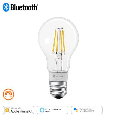 Lampadina LED filamento E27, Goccia, Trasparente, Bianco, Luce calda, 50W=650LM (equiv 50 W), 320° , LEDVANCE