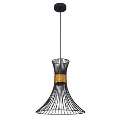 Lampadario Design Purra nero dorato in metallo, GLOBO