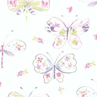 Carta da parati Farfalla rosa/viola