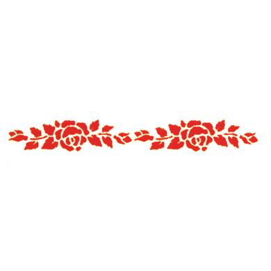 Stencil tema frutti e fiori Rose 8 x 36 cm