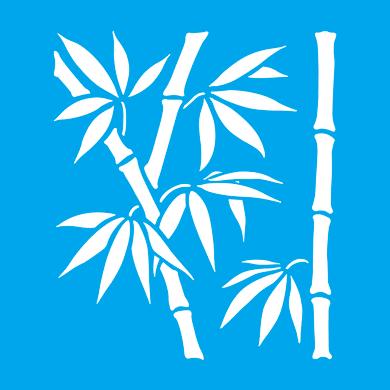 Stencil tema frutti e fiori Bambù 35 x 40 cm