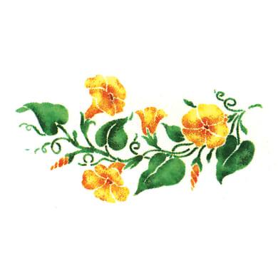 Stencil tema frutti e fiori 15 x 70 cm