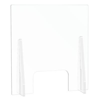Schermo di protezione con passacarte vetro sintetico trasparente 54 cm x 80 cm, Sp 2.5 mm