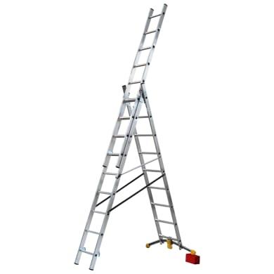 Scala a sfilo HAILO in alluminio 3x9 gradini per lavori fino a 6.31 m