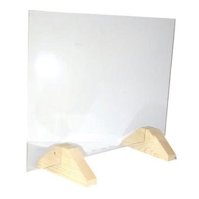 Schermo di protezione vetro trasparente 80 cm x 56 cm, Sp 5 mm
