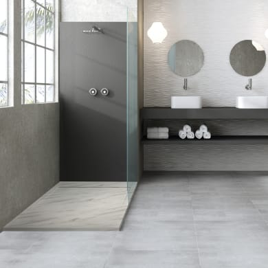 Piatto doccia gelcoat Neo marmo 90 x 90 cm bianco