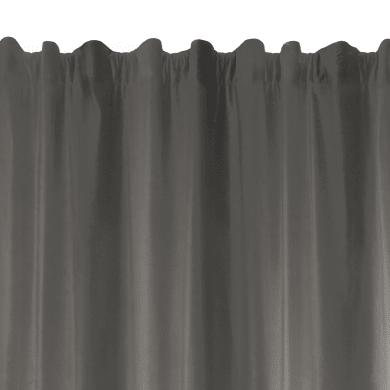 Tenda TENDA PROTECT antracite fettuccia con passanti nascosti 135 x 280 cm