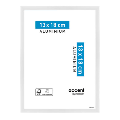 Cornice Accent bianco per foto da 13x18 cm