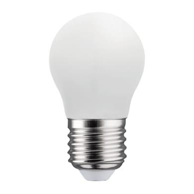 Lampadina LED filamento, E27, Sferico, Opaco, Luce naturale, 4.5W=470LM (equiv 40 W), 360° , LEXMAN