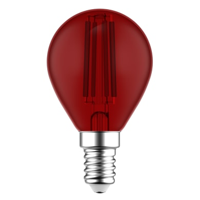 Lampadina LED filamento, E14, Globo, Trasparente, Luce calda, 4.5W=105LM (equiv 4.5 W), 360° , LEXMAN