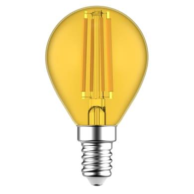 Lampadina LED, E14, Globo, Trasparente, Luce calda, 4.5W=510LM (equiv 4.5 W), 360° , LEXMAN