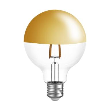 Lampadina LED, E27, Globo, Oro, Luce calda, 7W=806LM (equiv 60 W), 300° , LEXMAN