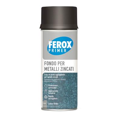 Fondo spray Ferox fondo aggrappante metalli grigio chiaro 0.4 L