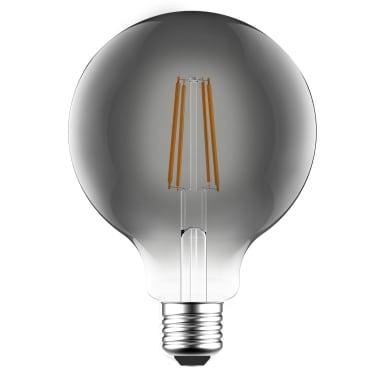 Lampadina LED filamento, E27, Globo, Fumé, Luce naturale, 7W=470LM (equiv 40 W), 360° , LEXMAN