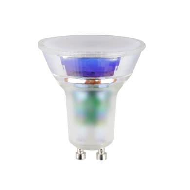 Lampadina con funzioni aggiuntive LED, GU10, Faretto, Trasparente, CCT, 5W=330LM (equiv 50 W), 100° , LEXMAN