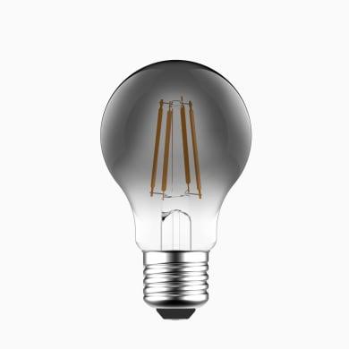 Lampadina LED, E27, Goccia, Fumé, Luce naturale, 6W=470LM (equiv 40 W), 360° , LEXMAN