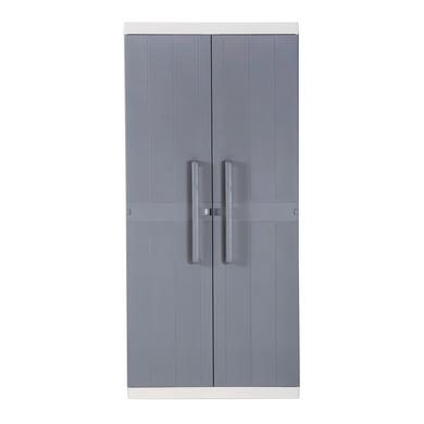 Armadio tuttopiani Mega L 89 x P 54 x H 190 cm grigio chiaro e grigio scuro