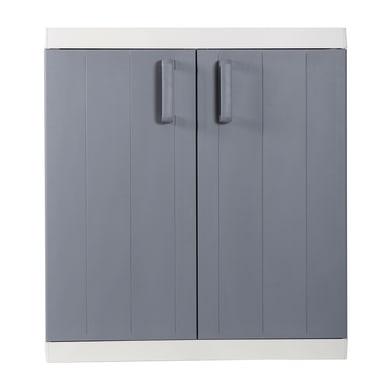 Armadio Mega L 89 x P 54 x H 96 cm grigio chiaro e grigio scuro