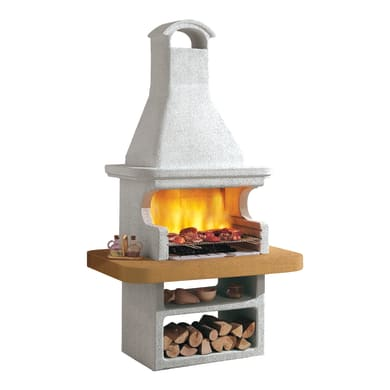 Barbecue in cemento refrattario PALAZZETTI Portorose con cappa L 92 x P 92 x H 246 cm