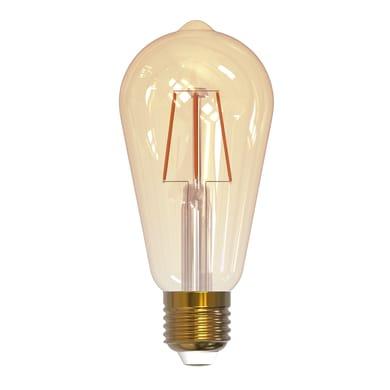 Lampadina smart lighting LED filamento, E27, Goccia, Fumé, Luce calda, 7W=600LM (equiv 7 W), 360°