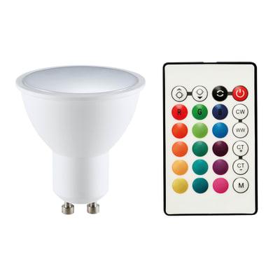 Lampadina smart lighting LED, GU10, Faretto, Opaco, RGB, 5.5W=400LM (equiv 5,5 W), 120°
