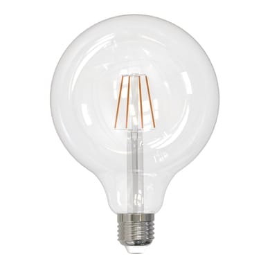 Lampadina smart lighting LED filamento, E27, Globo, Trasparente, Luce calda, 8W=1055LM (equiv 8 W), 360°