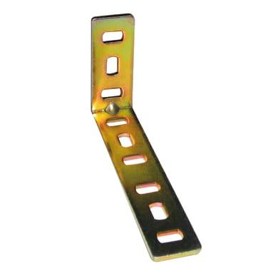 Piastra angolare standers in acciaio zincato L 30 x Sp 2 x H 20 mm