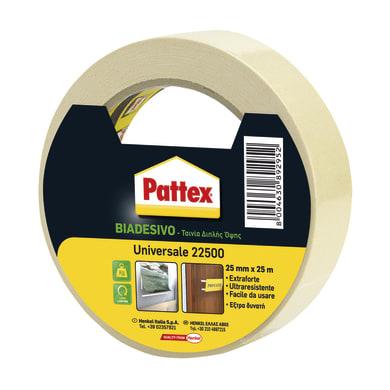 Nastro bi-adesivo PATTEX Universale 25 m x 25 mm bianco