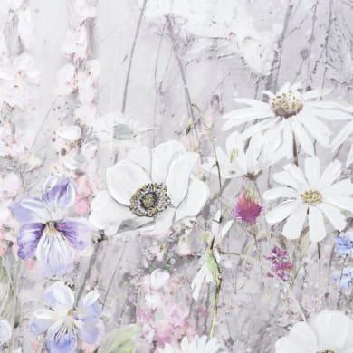 Quadro dipinto a mano Flowers 110x50 cm
