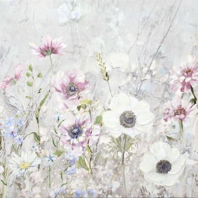 Quadro dipinto a mano Flowers 40x40 cm
