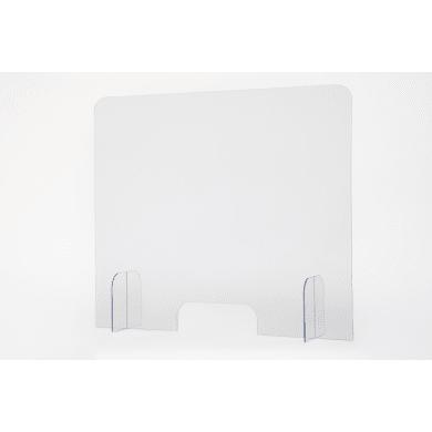 Schermo di protezione con passacarte policarbonato trasparente 96 cm x 82 cm, Sp 5 mm