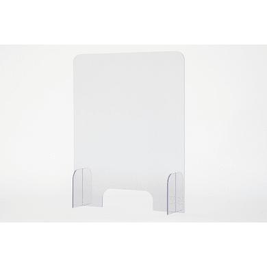 Schermo di protezione con passacarte policarbonato trasparente 65 cm x 82 cm, Sp 4 mm