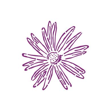 Stencil tema frutti e fiori LES DECORATIVES Aster 30 x 0.5 cm