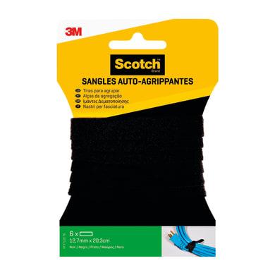 Velcro Adesivo 12 mm x 20 cm 6 pezzi