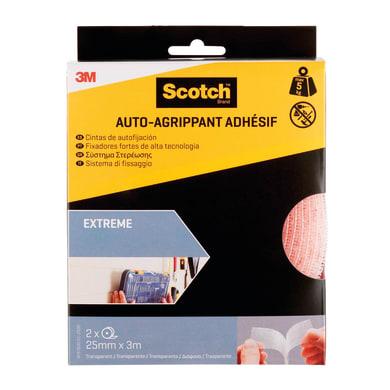 Velcro Adesivo 25 mm x 300 cm 2 pezzi
