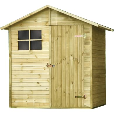 Casetta da giardino in legno Pepper,  superficie interna 2.33 m² e spessore parete 14 mm