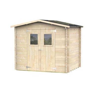 Casetta da giardino in legno Camelia,  superficie interna 3.9 m² e spessore parete 19 mm