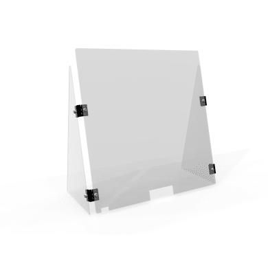 Schermo di protezione con passacarte policarbonato trasparente 75 cm x 75 cm, Sp 4 mm