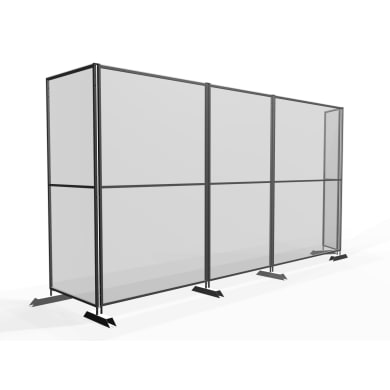 Schermo di protezione policarbonato trasparente 100 cm x 190 cm, Sp 20 mm