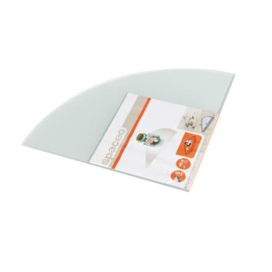 Mensola Spaceo L 25 x P 25 cm, Sp 0.5 cm verde